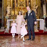 29. September 2017  Prinz Carlos von Bourbon-Parma und Prinzessin Annemarie besuchen mit ihren Kindern Luisa und Cecilia eine Messe in Parma.