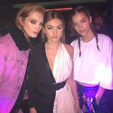 """1. Oktober 2017  Thylane Blondeau - """"das schönste Mädchen der Welt"""" - feiert auf der Party von Carine Roitfeld und trifft hier auf viele andere Models."""