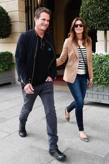 So sieht man Rande Gerber und seine schöne Frau Cindy Crawford meistens, nämlich ganz entspannt gestylt!