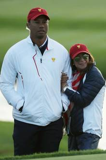 Tiger Woods mit Erica Herman