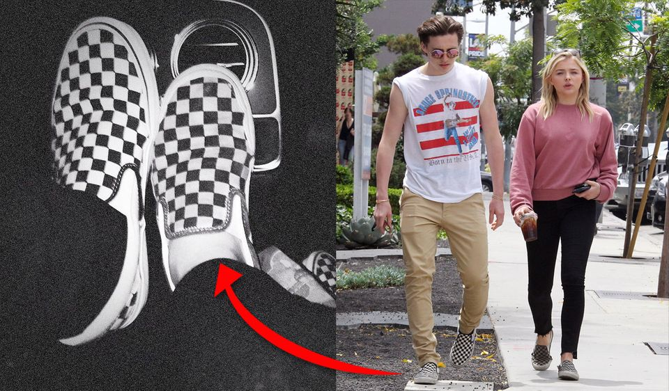"""4. Oktober 2017   Das ist der Beweis: """"Die glücklichste Person auf der Welt"""", postet Brooklyn Beckham zu seinem Foto. Darauf zu sehen sind zwei Vans von zwei verschiedenen Personen. Die Schuhe haben wir doch schon mal gesehen. Im Jahr 2016 trugen Brooklyn Beckham und seine damalige Freundin Chloë Grace Moretz die kultigen Treter. Die Gerüchte sind also war: Das Traumpaar scheint einen neuen Versuch zu wagen."""
