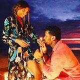 Ein XXL-Diamantring, eine Flasche Champagner und der perfekte Sonnenuntergang: Bei Russell Wilson und Ciara stimmt bei dem Hochzeitsantrag auf den Seychellen scheinbar alles.