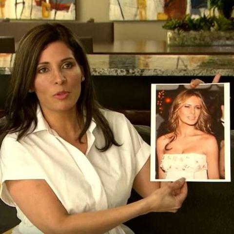 Claudia Sierra mit ihrem großen Vorbild Melania Trump
