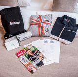 Alle Buddys konnten sich über eine exklusive Goodie Bag mit Produkten von BMW, Sioux, Ernsting's Family und La Martina freuen.
