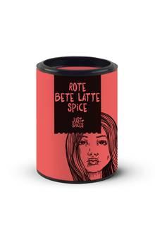 """Pink Power Ganz und gar ungewöhnlich, aber umwerfend lecker ist das Trendgetränk des Herbstes. Einfach heiße Milch aufschäumen, Pulver einrühren und genießen. """"Rote Bete Latte Spice"""" von Just Spices, ca. 6 Euro"""