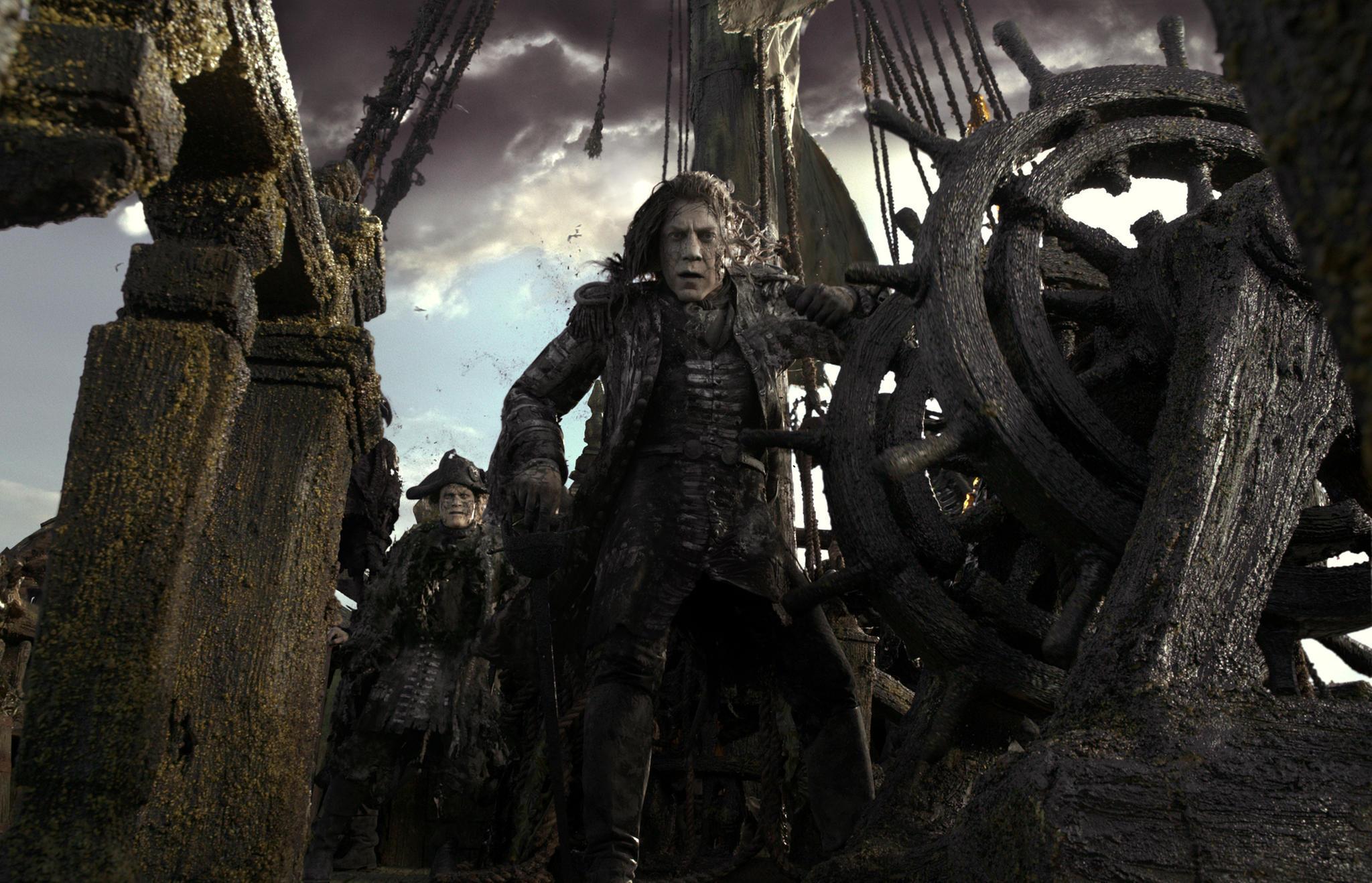 Sparrows finsterer Gegenspieler: Javier Bardem ist Captain Salazar (Szenenbild)