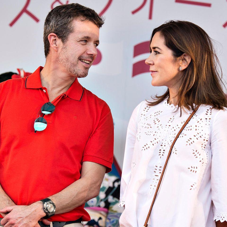 Prinz Frederik und Prinzessin Mary am 8. Oktober 2017 in Japan