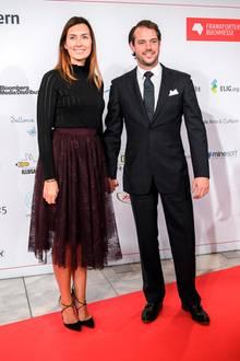 10. Oktober 2017  Royaler Besuch in Frankfurt: Prinzessin Claire und Prinz Félix von Luxemburg statten der Eröffnungsfeier der Frankfurter Buchmesse einen Besuch ab.