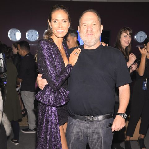 Heidi Klum + Harvey Weinstein