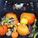 Schauspielerin Kelly Brook gewährt uns einen Blick in ihren Kofferraum. Gemeinsam mit der Familie wurde für Halloween eingekauft.