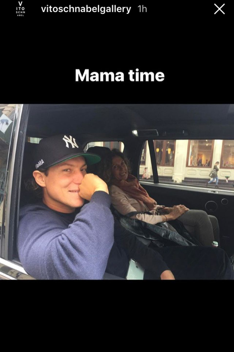 Vito Schnabel verbringt Zeit mit Mama Jacqueline