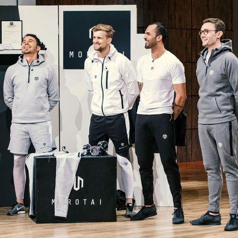 """Vier sportliche junge Männer stellen ihr Label """"Morotai"""" vor"""