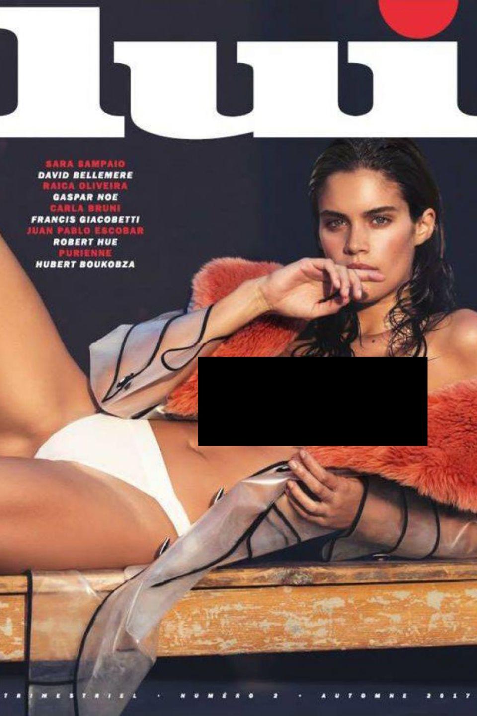 """Auf dem aktuellen Cover des französischen Männer-Magazins """"Lui"""" ist Sara Sampaio in scheinbar verführerischer Pose abgebildet. Das Model verriet nun, dass sie genötigt wurde, sich so zu präsentieren und dass das Foto gegen ihren ausdrücklichen Willen auf dem Cover erschien"""