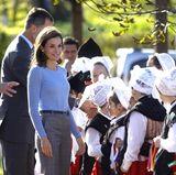 21. Oktober 2017   Gute Laune bei am dritten Tag der Veranstaltung: Spaniens König Felipe und Königin Letizia bei den Feierlichkeiten der Verleihung der Prinzessin von Asturien-Preise 2017.