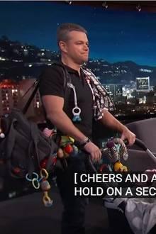 Matt Damon, George Clooney, Jimmy Kimmel