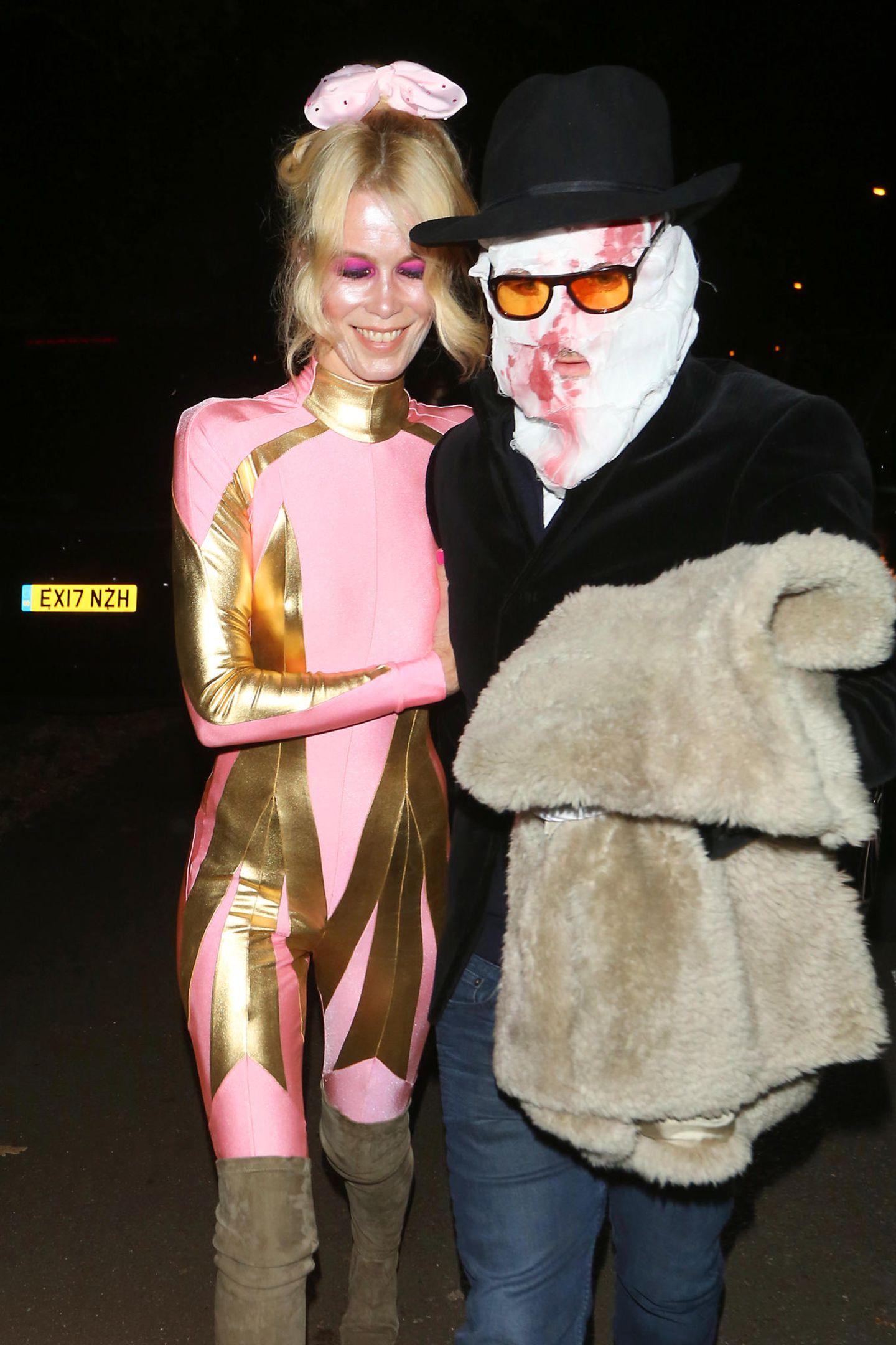 Schön und schaurig besuchen Claudia Schiffer und Matthew Vaughn eine Halloweenparty in London.