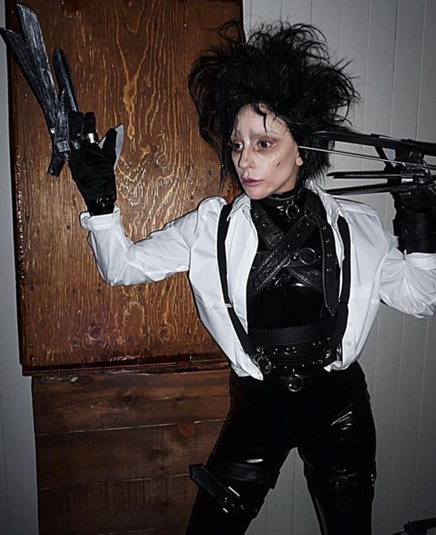 """Lady Gaga hat """"Edward mit den Scherenhänden"""" sehr gut getroffen."""