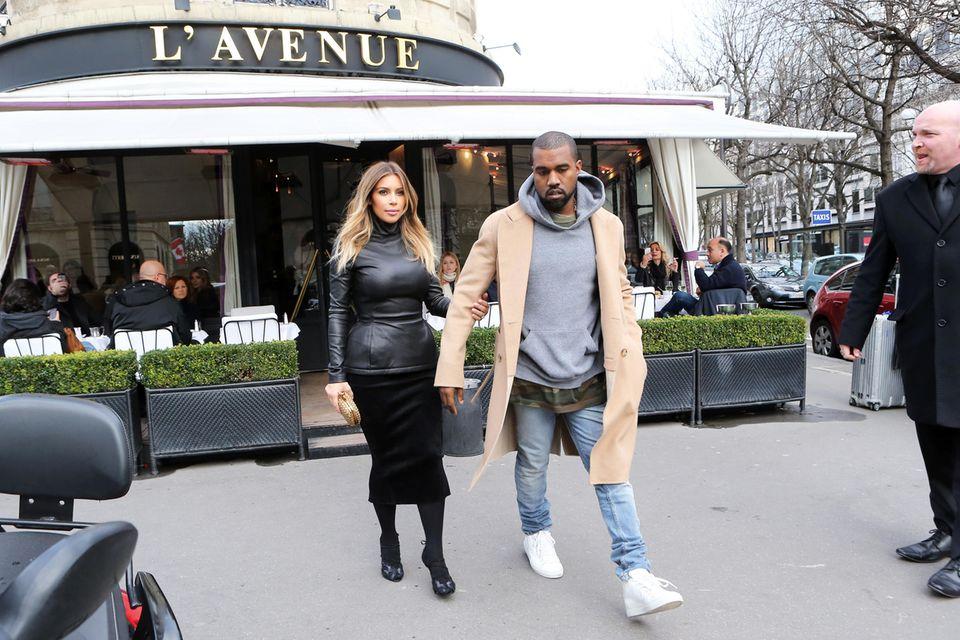Kim Kardashian und Kanye West lieben das Essen im L'Avenue