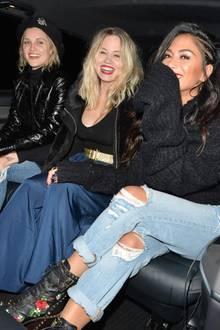 2. November 2017  Pussycat Dolls unterwegs in Londons Nachtleben: Eine spaßige Reunion, wie man es Nicole Scherzinger, Kimberly Wyatt und Ashley Roberts deutlich ansieht.