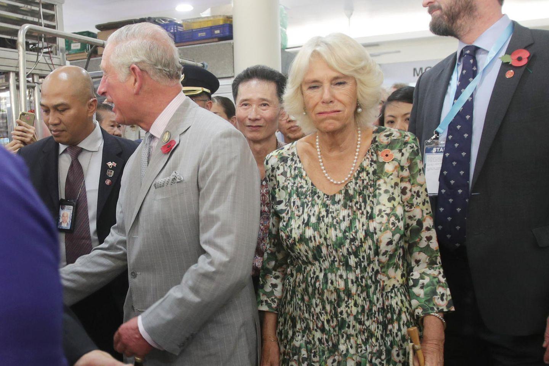 Camilla müde am 2. November 2017 in Singapur.