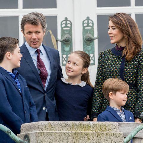 Prinz Frederik, Prinzessin Mary und ihre Kinder Christian, Isabella und Vincent