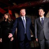 6. November 2017  Donald und Melania Trump werden vom japanischen Premierminister Shinzo Abe und seiner Frau Akie zum Dinner in Tokio eingeladen.