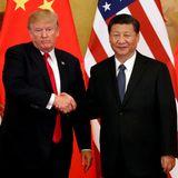 9. November 2017  Der gehört dazu: Trumps fester Händedruck mit Chinas Staatspräsident Xi Jinping.