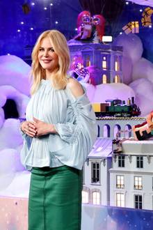 "Nicole Kidman schaltet die Weihnachtsbeleuchtung bei ""Printemps"" in Paris an."