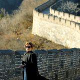 10. November 2017  Wenn man schon Mal in China ist, muss auch das größte Bauwerk der Welt, die Chinesische Mauer, bestaunt werden; First Lady Melania Trump macht da keine Ausnahme.