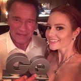 Barbara Meier schießt ein gemeinsames Selfie mit Arnold Schwarzenegger und teilt es mit ihren Fans auf Instagram.