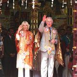 7. November 2017  Herzogin Camilla und Prinz Charles grüßen von ihrer Malaysia-Reise.