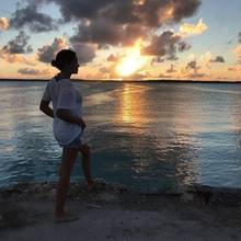 9. November 2017   Jana Ina Zarrella lässt uns teilhaben an diesem wunderschönen Sonnenuntergang auf den Bahamas. Hach, wie schön die Welt doch manchmal sein kann.