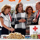 """13. November 2017  Tag eins des königlichen Besuchs in Mexiko: Königin Letizia besucht das """"Rote Kreuz"""" in Mexiko-Stadt."""