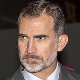 Im November 2017 überwiegt das Grau bei König Felipe - im Bart noch mehr als im Haar.