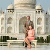 Ein Foto auf der berühmten Bank, auf der sich alle Royals - und normale Touristen - haben fotografieren lassen, steht ebenfalls auf dem Programm von Belgiens Königspaar.