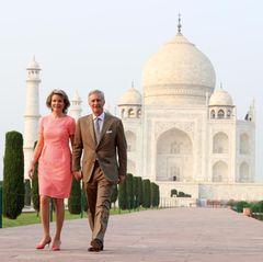 Königin Mathilde und König Philippe sind im November 2017 auf offziellem Besuch in Indien. Ein Abstecher zum Maj Mahal ist das Pflicht.