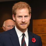 ... aber der Bart blieb. Im November 2017 zeigt sich Prinz Harry mit leicht gelichtetem Haupthaar, aber weiterhin mit Vollbart. Ob Meghan Markle das gefällt?