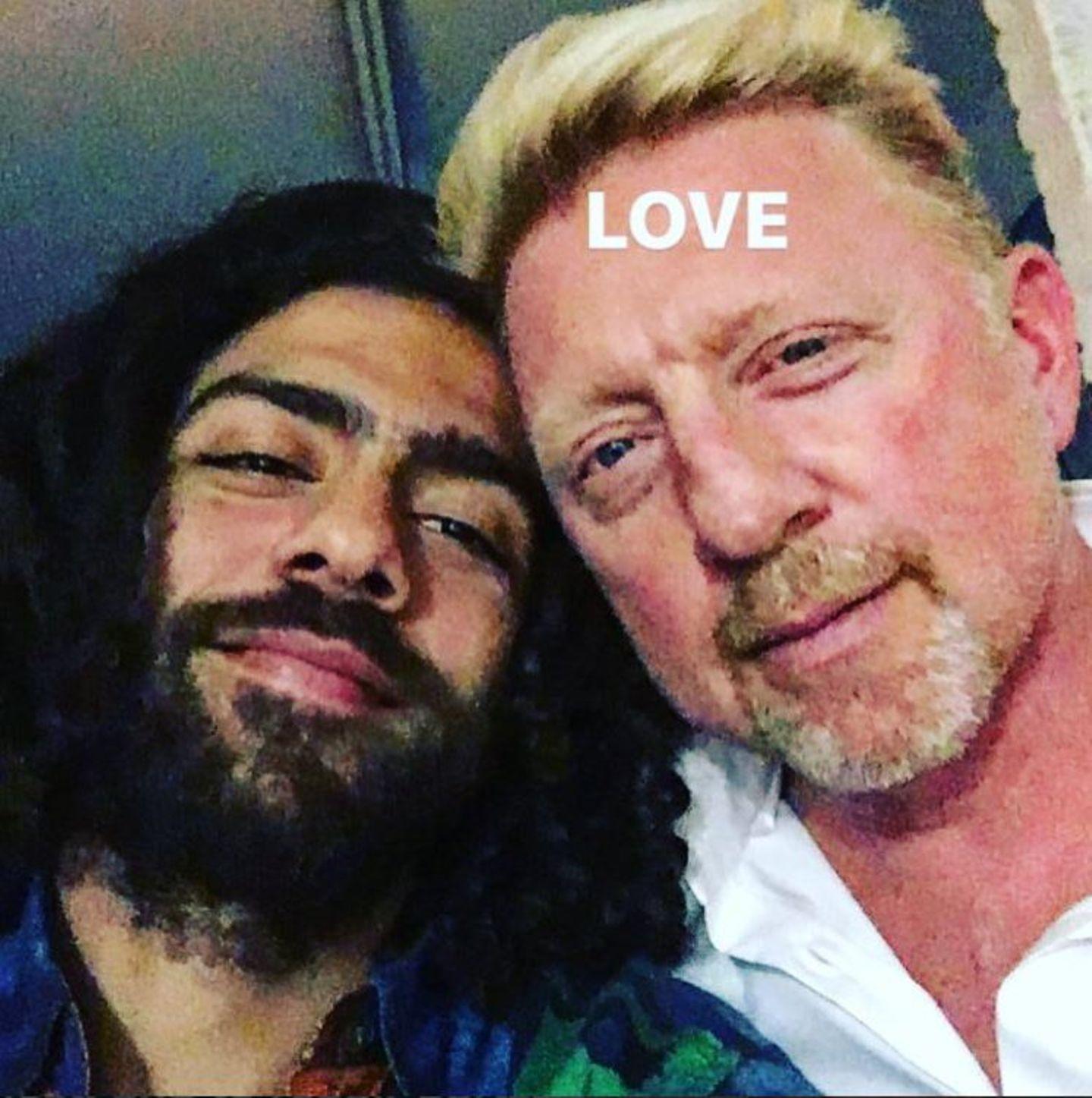 28. Oktober 2017  Ein Selfie mit Sohnemann Noah und Papa Boris Becker. Gemeinsam wurde gekocht und lecker zu Abend gegessen.