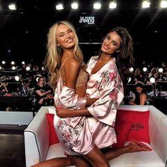 """Romee Strijd und Taylor Hill freuen sich riesig: Gleich heißt es """"Show time""""!"""