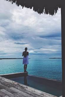 """26. November 2017   """"Meine Vorstellung von Abstand von dem ganzen Mist nehmen"""", postet Halle Berry. Ja, als Hollywoodstar braucht man seine Rückzugsorte. Wenn sie dann so malerisch sind, umso besser."""