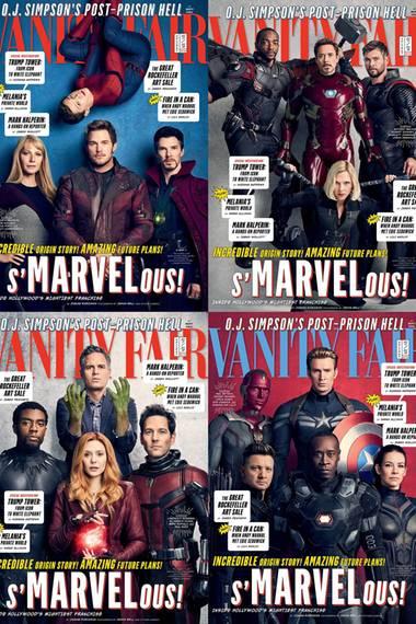 """27. November 2017  Da Marvel seit zehn Jahren erfolgreich Kinofilme produziert, veröffentlicht das Magazin """"Vanity Fair"""" ein großes Special. Besonders toll: Es gibt vier verschiedene Cover mit unseren liebsten Leinwandhelden."""