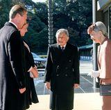 27. November 2017  Royaler Besuch in Japan. Luxemburgs Großherzog Henri und seine Tochter Prinzessin Alexandra treffen auf Kaiser Akihito und Kaiserin Michiko.