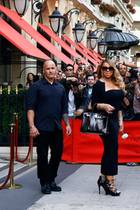 Mariah Carey am berühmten Plaza Athénée