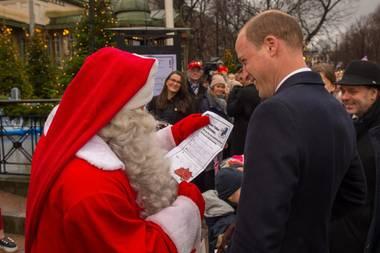 Prinz William beim finnischen Weihnachtsmann