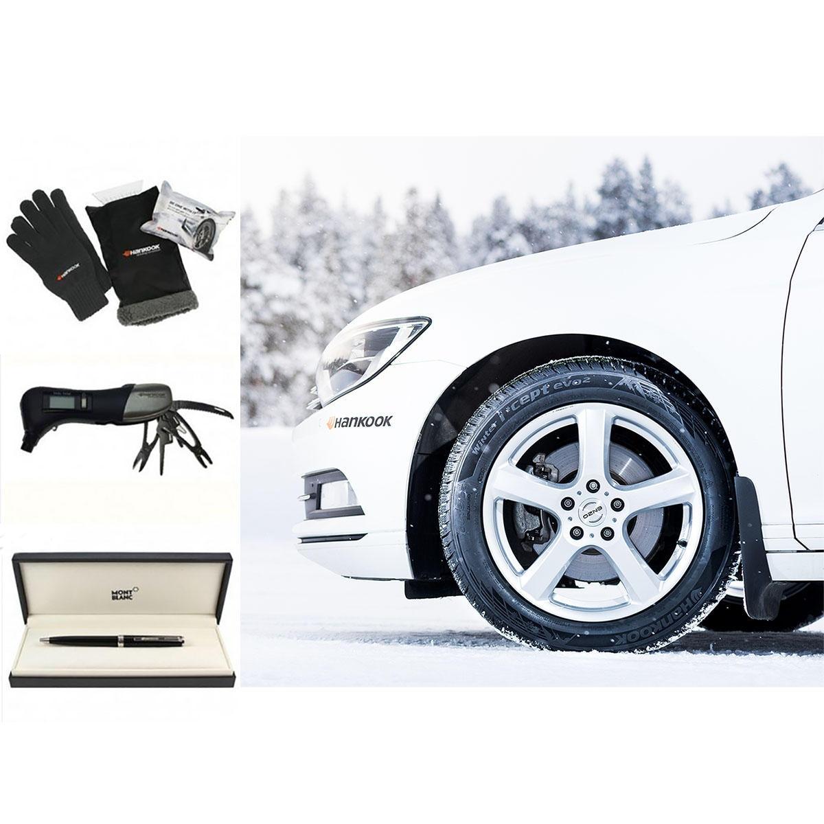 Unser Gewinnpaket: Hankook-Winterreifen plus Winterkit, Reifendruckmesser und Montblanc-Füllfederhalter