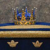 Wie zu jeder Taufe in Schweden ist auch für Prinz Gabriels großen Tag die prachtvolle Karl-XIII.-Krone herausgelegt worden.