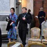 So sieht es aus, wenn man aus der Kälte in die Kirche gekommen ist. Die königliche Familie kommt erst kurz vor Beginn des Gottesdienstes.