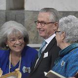 Prinzessin Margaretha und Prinzessin Christina, die Schwestern von König Carl Gustaf und (ganz vorne) Prinz Leopold von Bayern