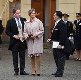 Prinzessin Madeleine und Chris O'Neill verlassen die Kirche.
