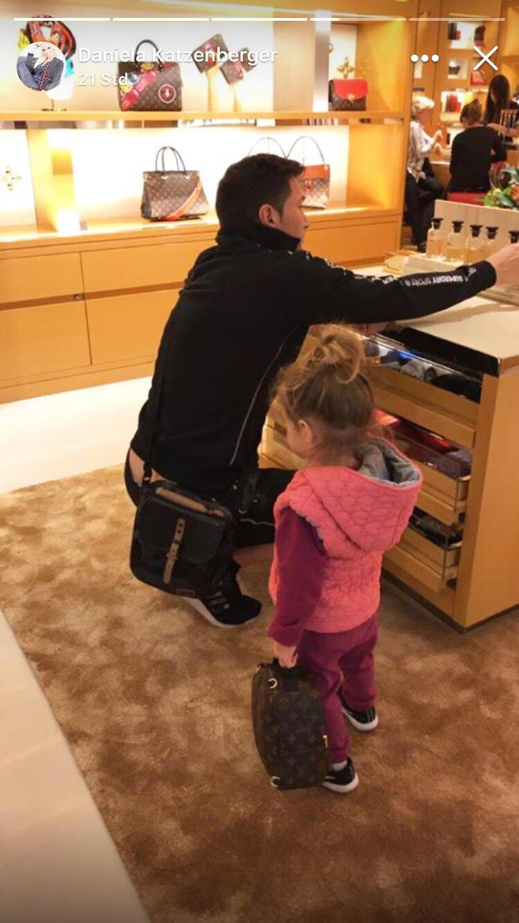 Lucas Cordalis und Tochter Sophia beim Shoppen.